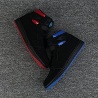 Wholesale quai 54 - 2017 New 1 OG High Quai 54 1s Cool Black Red French Blue Mens Basketball Shoes Men What The Sneakers High Quality