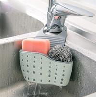 ingrosso bagni lavandini-Cucina portatile appeso borsa di scarico cestino di scarico cestino bagno di stoccaggio gadget cestino bagno strumenti di stoccaggio lavello titolare di scarico cestino appeso