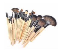 Wholesale Cheap Hair Bag - 2016 By Cheap Price 24Pcs Makeup Brushes Set Cosmetic Kits Makeup Tools Makeup Brush with leather bag brushes make up for you