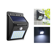 NOVO 20 LED impermeável IP65 Solar Powered Wireless PIR Sensor de movimento Luz Jardim exterior Garden Yard Lawn Security Wall Lamp