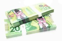 Wholesale C Arts - 100PCS Canada CAD Banknotes C$20 Bank Staff Training Collect Learning Banknotes Arts Gifts Home Decoration Crafts Movie Props Money