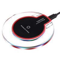 Wholesale Qi Wireless Charger Transmitter Iphone - Universal Qi Wireless Charger Charging Pad Thin Power Bank Transmitter for Samsung Galaxy S6 S7 S8 Edge Plus Note 5 Yotaphone 2