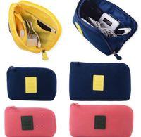 Wholesale Portable Electronic Organizer - Electronic Accessories Cable USB Drive Organizer Bag Case Portable Shockproof Travel Digital Storage Bag Cosmetic Pouch Storage LJJK787