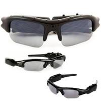 Wholesale Digital Camera Photograph - Black Sunglasses Cameras Video Photograph Recording Spy Crushes Fashion Eyewear Digital Video Recorder 2.0MP Hidden Camera