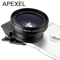 линза xiaomi wide оптовых-Wholesale-New HD Camera Lens Kit 0.45X Super Wide Angle Lens with 12.5X Macro Lens, Clip Cell Phone Lens for iPhone Samsung Xiaomi phones