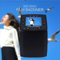 Wholesale Image Sensor Cmos - Wholesale- EC717 5MP 35mm 5.0 Mega Pixels Image Sensor Negative Film Slide Viewer Scanner USB Digital Color Photo Copier 2.4'' LCD Screen