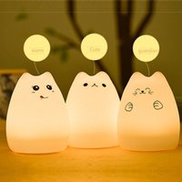 Wholesale Soft Tap - Portable Silicone Soft LED Multicolor Night Lamp light Warm White Breathing Dual Light Modes Sensitive Tap Control for Baby Room