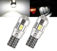 Wholesale Hidden Wedges - T10 501 194 W5W 5630 6 SMD Car Auto LED HID Canbus Error FREE Car Side Wedge Light Parking Fog Light