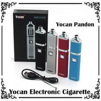 Wholesale Color Vapor Battery - 1pc Yocan Pandon QUAD Wax Pen Vaperizer pen 1300mAh Battery 4 color handheld e cigarettes Huge Vapor