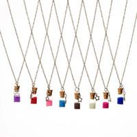 Wholesale Wishing Bottle Pendants - Fashion Jewlery Quick Sand Wishing Drift Bottle Messenger Current Bottle Star Glass Necklaces Necklace for women locket jewelry gift 161542