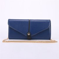 Wholesale Satin Purse Mini - PU Purse Womens Clutch Bags Fashion Cross-body Shoulder Bag with Chain High Quality Party Clutches for Lady