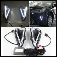 Wholesale Led Fog Light For Camry - For Toyota Camry DRL LED Light conducting DRL fog lamps Car Styling LED daytime running lights for Toyota Camry 2014-2015 DRL