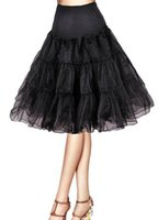 """Wholesale Tutu Skirts For Prom - Vintage Women's Tutu Skirt 26"""" Length Petticoats Bridal Accessories for prom dresses Cheap Petticoat many Colors Underskirt"""