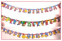 Wholesale Flash Age - Paper Banner New Personalised Age Flashing Happy Birthday Banners 1st 60th Party Decorations Baby Shower Decorations Bridal Banner