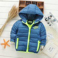 Wholesale Kids Korean Jackets - Retail New 2017 Children outerwear boys&girls Winter Thick warm Solid fashion coats&jackets,Kids Korean Down Parkas 6 colors