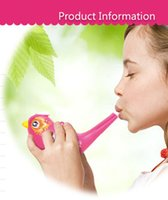 Wholesale Bird Whistles - DIY painted waterfowl whistle sounding music baby toys for children playing in the water bath water wind instrument bird whistles