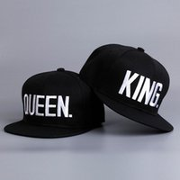 Wholesale Fashion Ties For Women - Fashion King Queen Hip Hop Baseball Caps Embroider Letter Couples Lovers Adjustable Snapback Sun Hats For Men Women Kh 981562