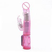 Wholesale Se Toys For Male - ack Rabbit Vibrators dildo G-Spot Vibrators,vibration and rotation massager,multi function penis,Sex Toy for woman,Sex products Cheap se...