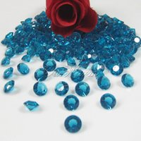 Wholesale Teal Blue Diamond Confetti - New 2015,TEAL BLUE (1000pcs 6.5mm 1Carat) White Clear Crystal Diamond Confetti Wedding Table Vase Decoration