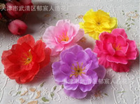 Wholesale peach flowers resale online - Artificial flowers peach flowers plum flower head shot with clothing dance props wedding supplies