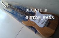 Wholesale Stratocaster Electric - USA Custom Shop ST Natrual Wood Electric Guitar, 3 Pickups Stratocaster Guitar