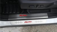 Acero inoxidable para Ford Kuga 2013 2014 2015 interior y exterior Puerta Sill Scuff Plate Cubierta Trim Decoración Umbral Car styling