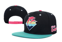Wholesale Pink Dolphin Snapback For Men - 2016 New Hot Sale Snapback Hat Adjustable Pink Dolphin Ocean Sport Baseball Cap For Men Women free shipping