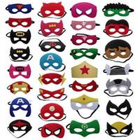Wholesale Batman Adult Costume Accessories - Superhero mask Cosplay Superman Batman Spiderman Hulk Thor IronMan Princess Halloween Christmas kids adult Party Costumes Masks