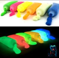 Wholesale Wholesale Glow Paint - Wholesale-5X Glowing Face body Blacklight Paint 15g for party, Easter & Halloween - 10 Colors bright luminous Acrylic Paints