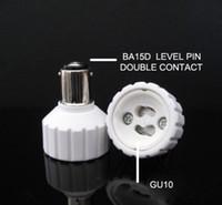 Wholesale ba15d adapter resale online - 10pcs BA15D to GU10 Lamp Holder Adapter Socket Converter Changer Transformer