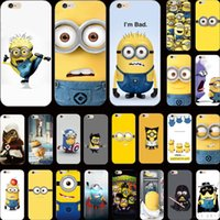 Wholesale Despicable Minion 22 - Wholesale-Innovative Design 22 Styles Silicon Cover Despicable Yellow Minion Case For Apple iPhone 4 iPhone 4S iPhone4S Cases Shell IRJ LD