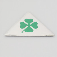Wholesale alfa romeo 166 - Aluminum Green Cloverleaf Car Stickers for Alfa Romeo MiTo GIULIETTA Giulia Spider GT147 156 166 159