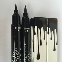 Wholesale Double Side Black Color - New Arrival kylie double eyeliner side HOT MAKEUP Eyeliner Liquide Pencil waterproof Black and brown free shipping