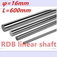 Wholesale Rails Shaft - Wholesale- Free shipping 16mm linear shaft 600mm 16mm linear rail L 600mm for cnc parts