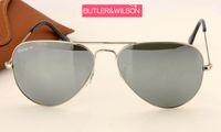 monture argentée avec lunettes de soleil achat en gros de-LUXURY lunettes de soleil femmes hommes argent miroir lunettes de soleil en métal argent noir or cadre meilleure qualité marque concepteur pilote lunettes de soleil 58mm