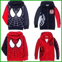 Wholesale Casual Autumn Winter Sports Hoodies - hot selling big promotion boys girls spiderman hoodies long-sleeved t-shirts swearshirts coat fashion style casual sports jacket outwear