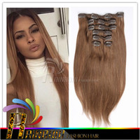 Wholesale Hair Clips Cheap Price - Factory price cheap Brazilian Remy Hair Clip In human Hair Extension 7 Pieces Lot total 120g(100g hair 20g clips) Full head