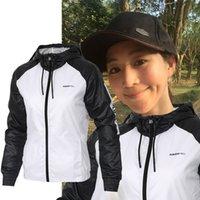 Wholesale Slimming Bamboo High Quality - Free shipping Fall thin windrunner Women sportswear high quality waterproof fabric women sports jacket Fashion zipper hoodies