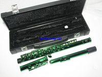 16-канальная флейта оптовых-Оптовая зеленый 16 отверстий флейты духовой флейты с корпусом Бесплатная доставка A1112