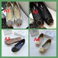 Wholesale Comfortable Dress Shoes Women - 2016t9b6 PU Fashion women's shoes comfortable 2 styles to choose Flat Women Shoes ballet shoes Large size 35-42