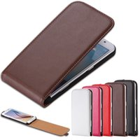 Wholesale Case S4mini - Wholesale-S4mini Luxury Real Genuine Leather Case For Samsung Galaxy S4 mini i9190 Retro Magnetic Thin Vertical Flip Full Protective Cover