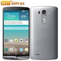 câmera gps android 3g venda por atacado-LG G3 D850 / D855 / D851 Celular GSM 3G4G Android Quad-core RAM 3 GB / 2 GB 5.5 Câmera de 13MP GPS WIFI 16 GB Telefone Móvel Livre navio