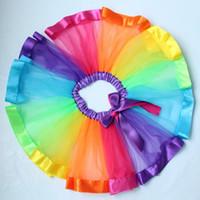 Wholesale Toddler Ball Gown Pattern - New Posh Shabby Baby Girls Tutu SKirt ,Rainbow Baby Tutu Skirt Pattern ,Girls Birthday party Tulle skirt ,Summer toddler clothes