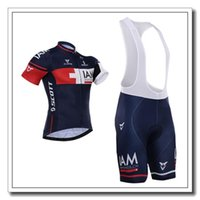 Wholesale Iam Cycling - 2015 Hot sales IAM Cycling Jersey Set Short Sleeve Blue Cycling Clothes With Cycling Tops+Padded Bib None Bib Trousers Bike Suit xs-4XL