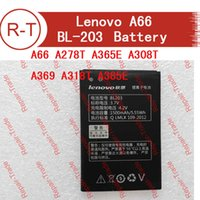 Wholesale Lenovo A278t Battery - atteries Mobile Phone Batteries Lenovo A66 battery BL203 Original High Quality 1500mAh Battery Replacement for Lenovo A66 A278T A365E A3...