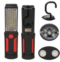 Wholesale 36 Led Flashlight - 2016 New Arrival Super Bright USB Charging 36+5 LED Flashlight Work Light Torch Magnetic+HOOK Mobile Power Bank For Your Phone Outdoor