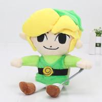 "Wholesale Hourglass Figure - 100pcs 8""20cm Legend of Zelda Phantom Hourglass Plush Toy LTD Edition Video Game Promo Doll Kids Toys"