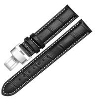 düğme bantları toptan satış-Sıcak Satış High-end Marka Watch Band Kayışı Push Button Gizli Toka Su Geçirmez Dayanıklı Erkek Kadın bant Toptan 20mm Nokta kaynağı