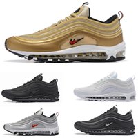Chaussures Max Pas Cher Pas Cher-Brand New Men Low Nike air max 97 coussin Soufflante Casual Chaussures Cheap Massage Running Flat Sneakers Man 97 Sports Outdoor Shoes