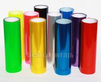 ingrosso fari di luce neri-12 Rotoli / lotto lCar Fari Tinting Proiettore Pellicola Tinta luce fumo nero, blu, arancione.bianco.piaro, verde.rosso.punta. 0.3x10m / Roll
